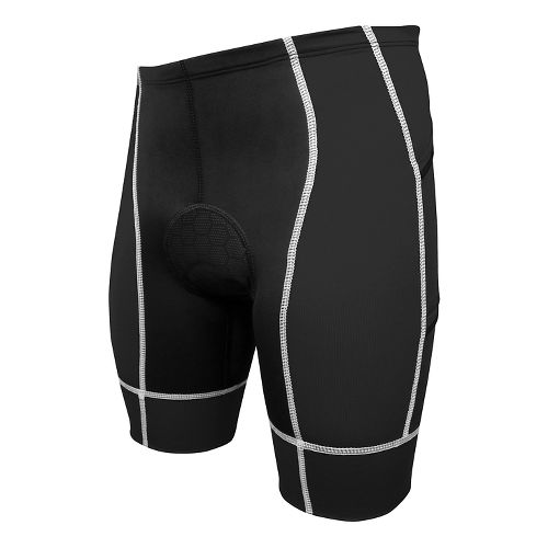 Mens De Soto Forza Tri 4-Pocket Fitted Shorts - Black/White S