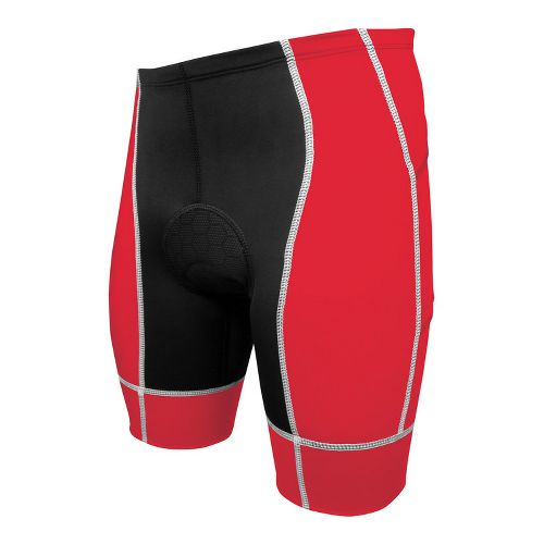 Mens De Soto Forza Tri 4-Pocket Fitted Shorts - Red/White S