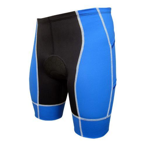 Mens De Soto Forza Tri 4-Pocket Fitted Shorts - Royal/White M