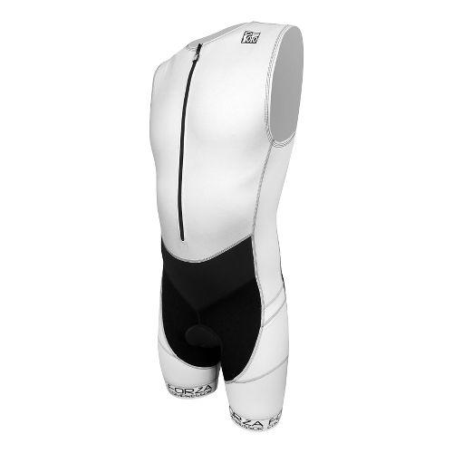 Mens De Soto Riviera Triathlon UniSuits - White/Black L
