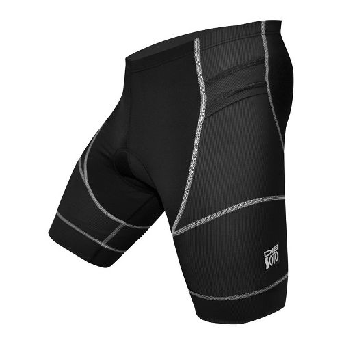 Mens De Soto Riviera Tri Fitted Shorts - Black L