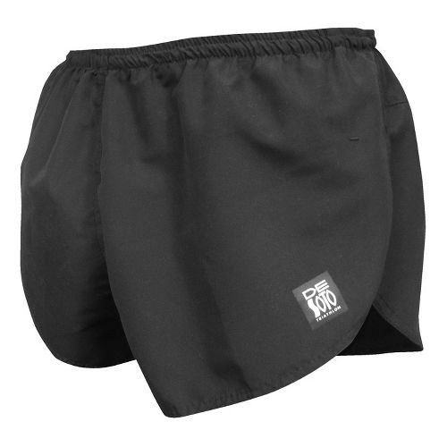 Mens De Soto Quick Split Run Lined Shorts - Black L