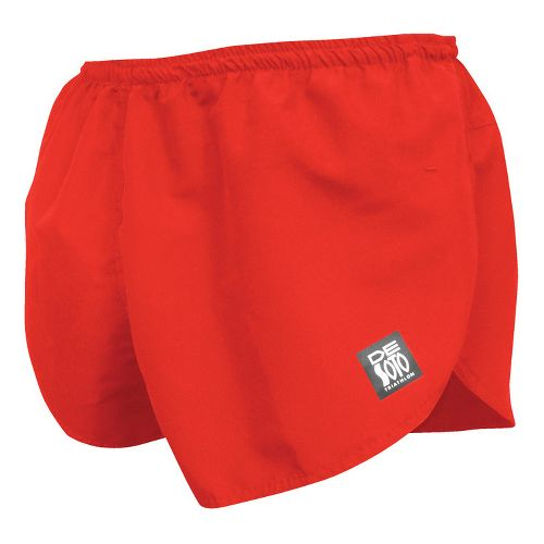 Mens De Soto Quick Split Run Lined Shorts - Red XL