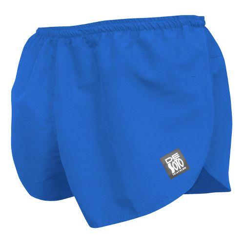Mens De Soto Quick Split Run Lined Shorts - Royal XL