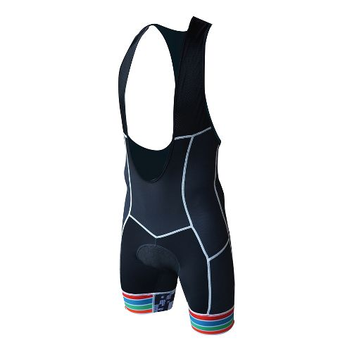 Mens De Soto 400-Mile Bib Short Triathlon UniSuits - Black/Grey L