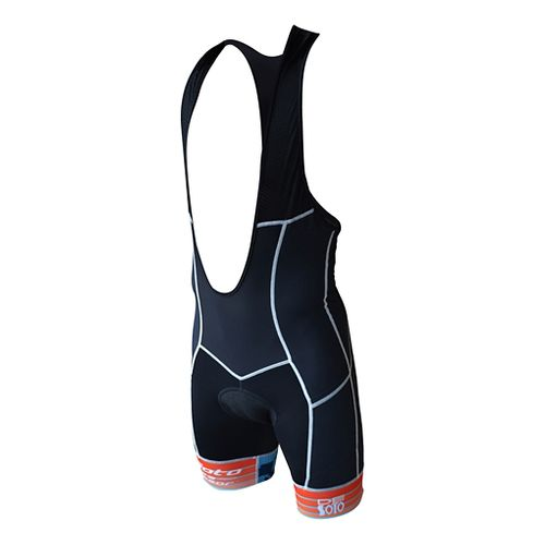 Mens De Soto 400-Mile Bib Short Triathlon UniSuits - Black/Blue S