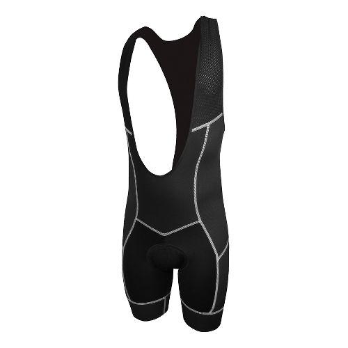 Mens De Soto 400-Mile Bib Short Triathlon UniSuits - Black/White L