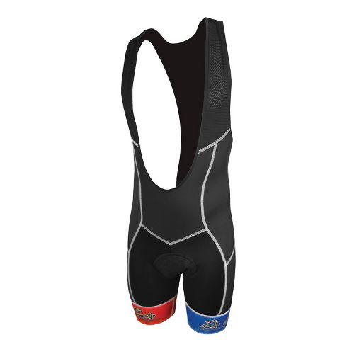 Mens De Soto 400-Mile Bib Short Triathlon UniSuits - Mondrian Color L