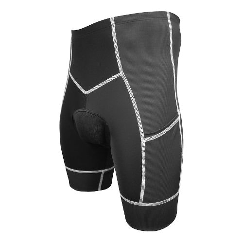 Mens De Soto 400-Mile Bike Fitted Shorts - Black/White XL