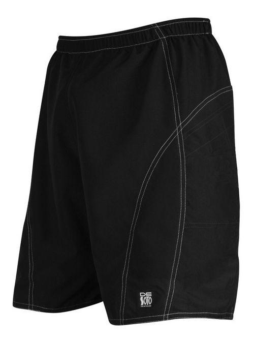 Mens De Soto Playa Run Lined Shorts - Black L