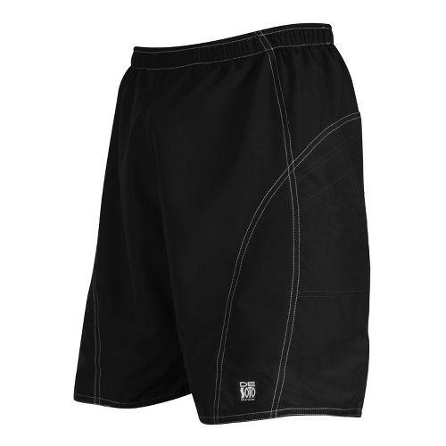 Mens De Soto Playa Run Lined Shorts - Black XL