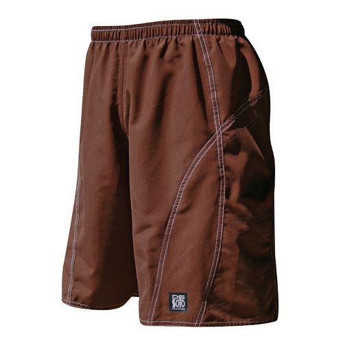 Mens De Soto Playa Run Lined Shorts - Brown S
