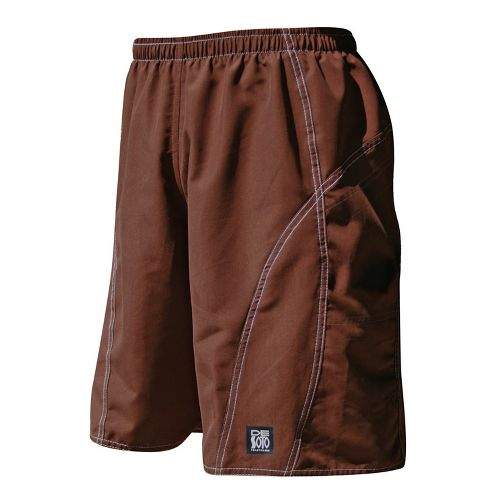 Mens De Soto Playa Run Lined Shorts - Brown XL