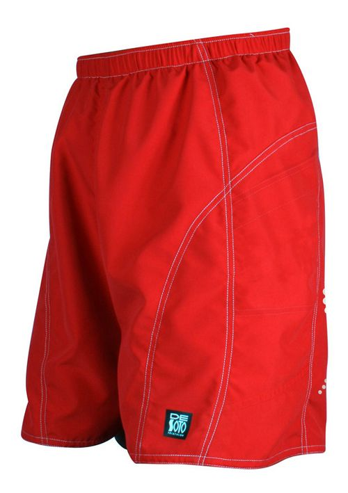 Mens De Soto Playa Run Lined Shorts - Red S