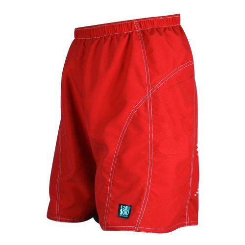 Mens De Soto Playa Run Lined Shorts - Red XL