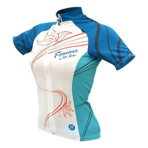Womens De Soto Femme Bike Jersey Short Sleeve Technical Tops - Limited Edition/Blue XL
