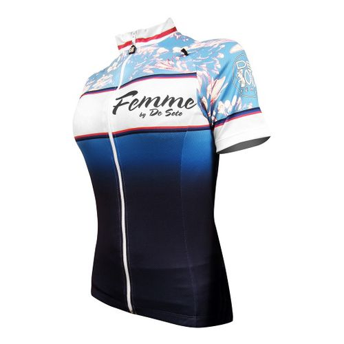 Womens De Soto Femme Bike Jersey Short Sleeve Technical Tops - Limited Edition L