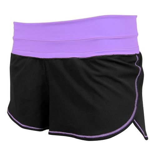 Womens De Soto Femme Run Lined Shorts - Purple XL