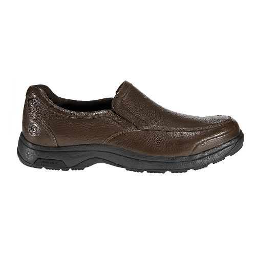 Mens Dunham Battery Park Slip-On Casual Shoe - Brown 8.5