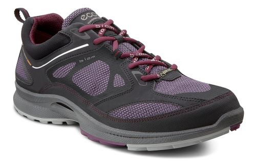 Womens Ecco USA Biom Ultra Quest GTX Trail Running Shoe - Black/Light Purple 39