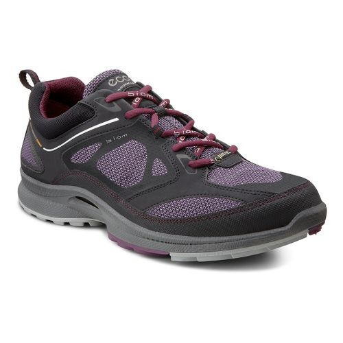 Womens Ecco USA Biom Ultra Quest GTX Trail Running Shoe - Black/Light Purple 40