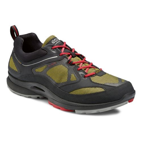 Mens Ecco USA Biom Ultra Quest GTX Trail Running Shoe - Black/Butter Cup 44