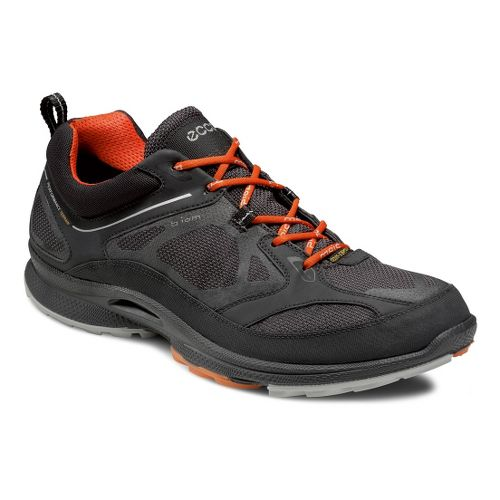 Mens Ecco USA Biom Ultra Quest GTX Trail Running Shoe - Black/Moonless 46