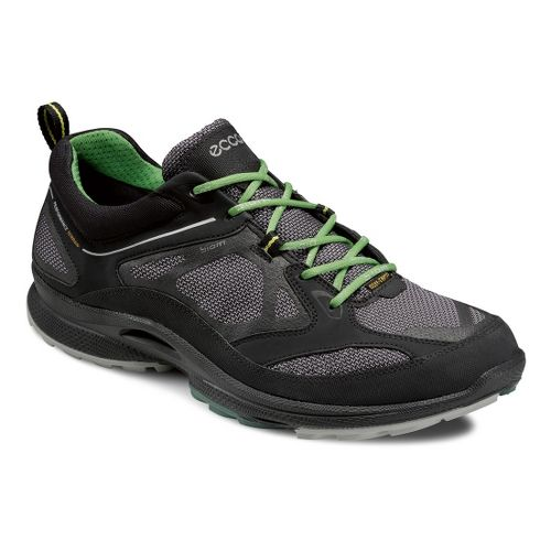 Mens Ecco USA Biom Ultra Quest GTX Trail Running Shoe - Black/Titanium 46