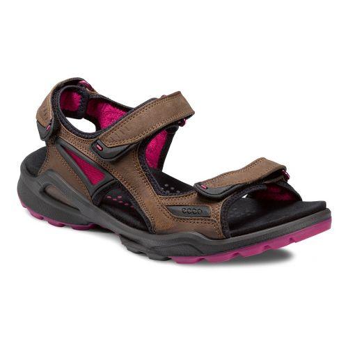 Womens Ecco USA Biom Terrain Sandal-Chiappo Sandals Shoe - Espresso/Beetroot 38