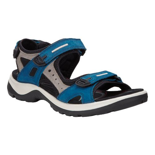 Womens Ecco Yucatan Sandals Shoe - Poseidon/Warm Grey 40