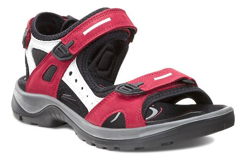 Womens Ecco Yucatan Sandals Shoe - Chili Red 40