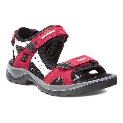 Womens Ecco Yucatan Sandals Shoe - Chili Red 41