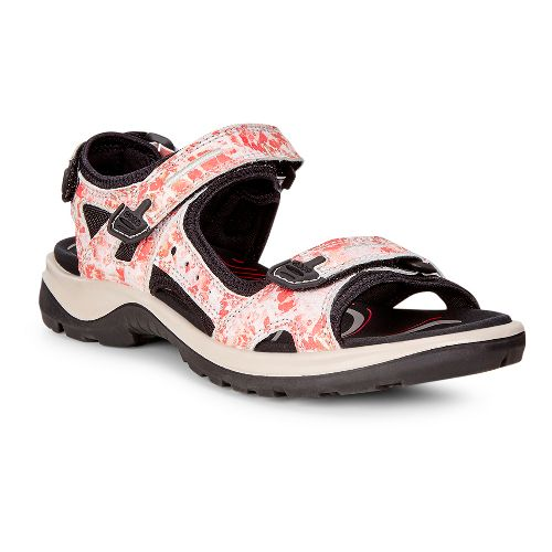 Womens Ecco Yucatan Sandals Shoe - Coral Blush 41