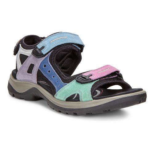 Womens Ecco Yucatan Sandals Shoe - Multi-Color 38