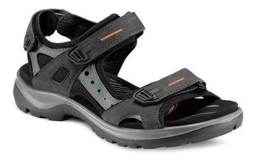 Womens Ecco Yucatan Sandals Shoe - Black/Mole 35