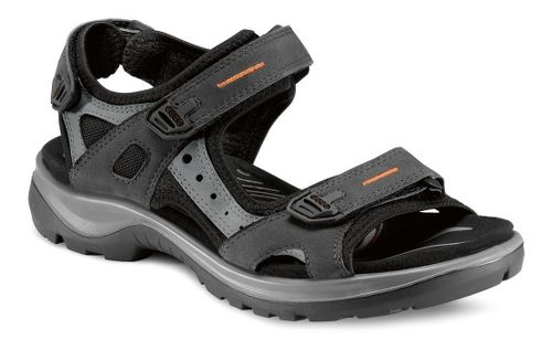 Womens Ecco Yucatan Sandals Shoe - Black/Mole 42