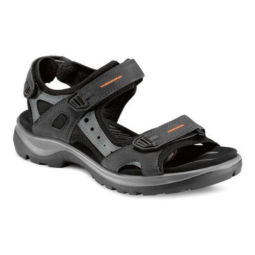 Womens Ecco Yucatan Sandals Shoe - Black/Mole 40