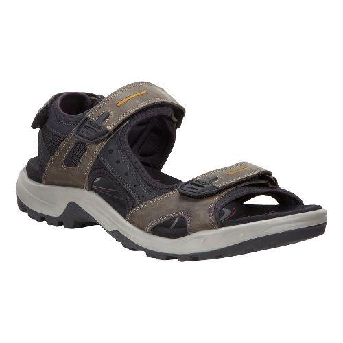 Mens Ecco Offroad-Yucatan Sandals Shoe - Tarmac/Black 46