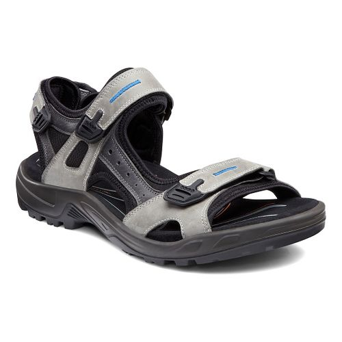 Mens Ecco USA Offroad-Yucatan Sandals Shoe - Wild Dove/Titanium 48
