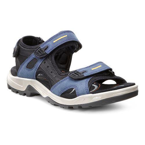 Mens Ecco USA Offroad-Yucatan Sandals Shoe - True Navy/Black 49
