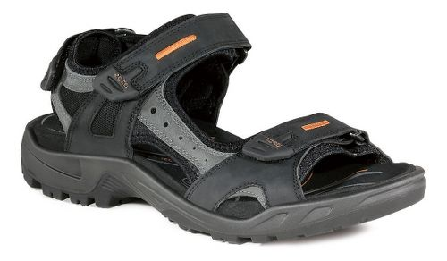 Mens Ecco Offroad-Yucatan Sandals Shoe - Black/Mole 46