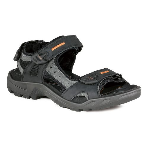 Mens Ecco USA Offroad-Yucatan Sandals Shoe - Black/Mole 46