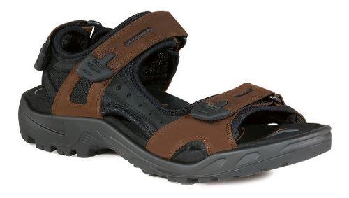 Mens Ecco Offroad-Yucatan Sandals Shoe - Bison/Black 40
