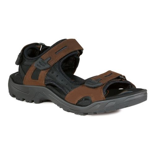 Mens Ecco USA Offroad-Yucatan Sandals Shoe - Bison/Black 40