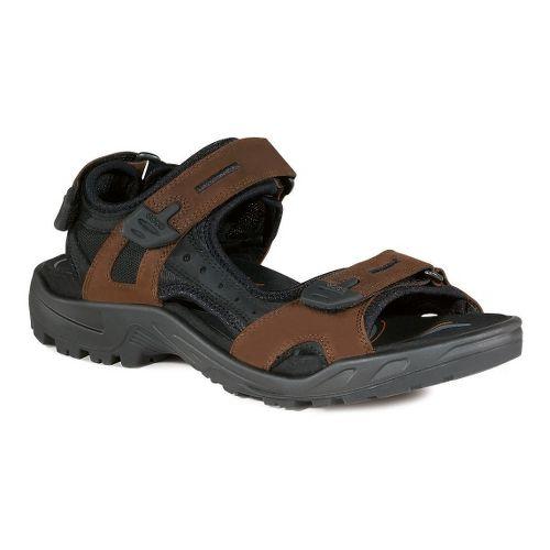 Mens Ecco Offroad-Yucatan Sandals Shoe - Bison/Black 43