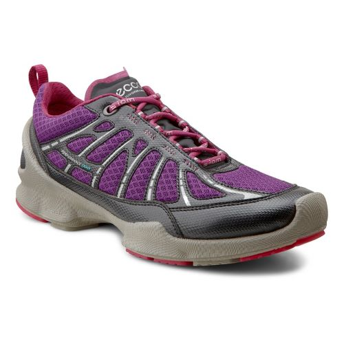 Womens Ecco USA Biom Train Core Cross Training Shoe - Black/Imperial Purple 37