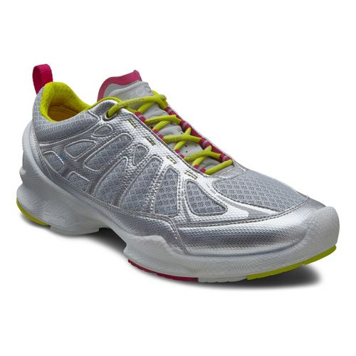 Womens Ecco USA Biom Train Core Cross Training Shoe - Silver Metallic/Concrete 38