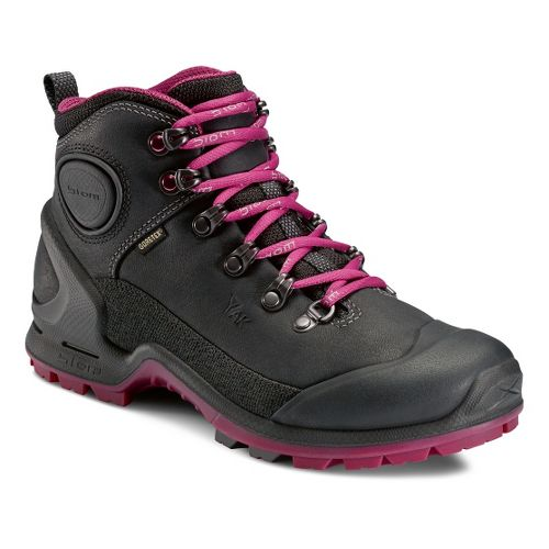 Womens Ecco USA Biom Terrain-AKKA Mid Plus GTX Hiking Shoe - Black/Fuchsia 38