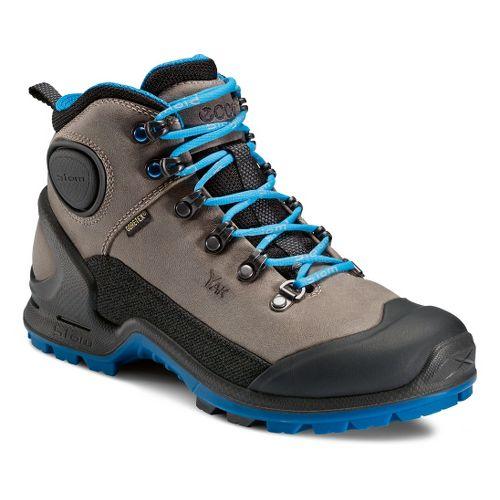 Womens Ecco USA Biom Terrain-AKKA Mid Plus GTX Hiking Shoe - Black/Moonrock 40