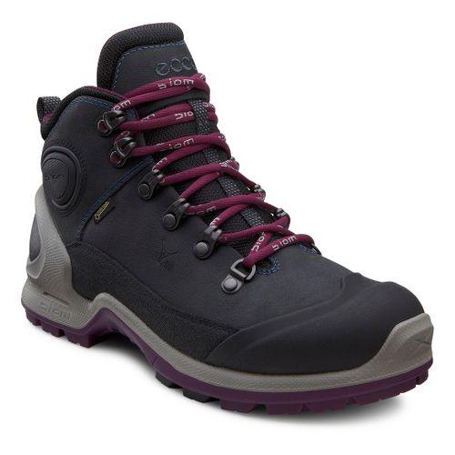 Womens Ecco USA Biom Terrain-AKKA Mid Plus GTX Hiking Shoe - Black/Ombre 37